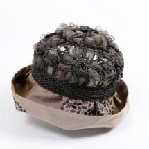 ハット作品 ニット+クロス帽子