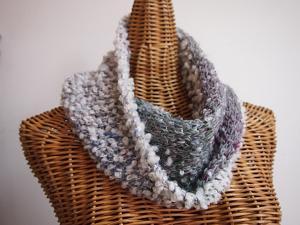 カウチン編みのスヌード